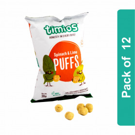 Timios Puffs (Spinach & Lime Kids Snacks)- Pack of 12