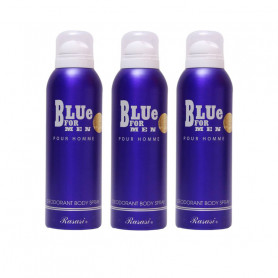 Rasasi blue for men Deodorant Spray - (200 ml, Pack of 3)