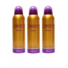 Rasasi Chastity Deodorant Body Spray - For Women (200 Ml Pack of 3)