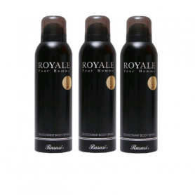 Rasasi Royale Pour Homme Deodorant Spray For Men (200 Ml Pack of 3)