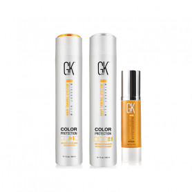 Global Keratin GK Color Protection Moisturizing Shampoo 10.1 Oz. Conditioner 10.1 Oz. And Anti-frizz Smoothing Serum 1.69 Oz.