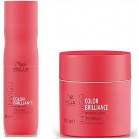 Wella Professionals Invigo Color Brilliance Shampoo and Mask For Fine/Normal Hair