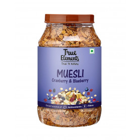 True Elements Cranberry And Blueberry Museli 1000gm