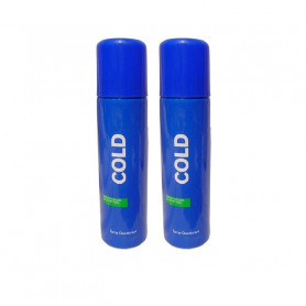UNITED COLORS OF BENETTON COLD DEODORANT MEN 200ML-PACK OF 2