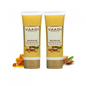 Vaadi Herbals Instaglow Almond and Honey Face Pack, 120gmx2