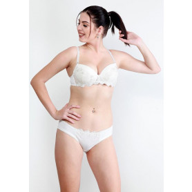Makclan Love Lace Snowflake White Lingerie Set