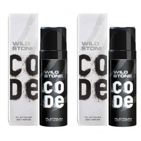 Wild Stone Code Platinum Body Perfume Spray 120ml -(Pack OF 2)