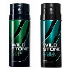 Wild Stone Forest Spice And Hydra Energy Body Spray (Pack OF 2)