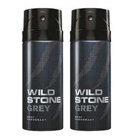 Wild Stone Grey Body Deodorant 150ml - (Pack OF2)