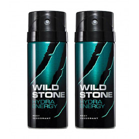 Wild Stone Hydra Energy  Body Deodorant 150ml - (Pack OF2)