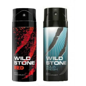 Wild Stone Red And Aqua  Deodorant Spray (Pack OF 2)