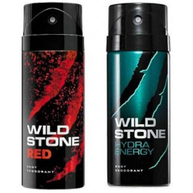 Wild Stone Red And Thunder Body Spray  (Pack OF 2)