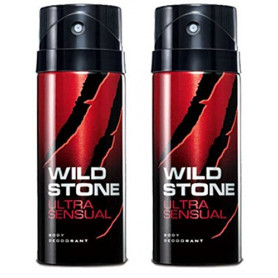 Wild Stone Ultra Sensual  Body Deodorant 150ml - (Pack OF2)