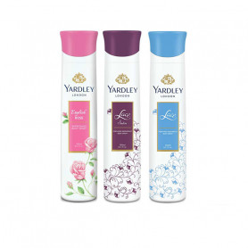 Yardley English Rose, Lace Satin, Lace Deo  (Pack of 3 ) For Women
