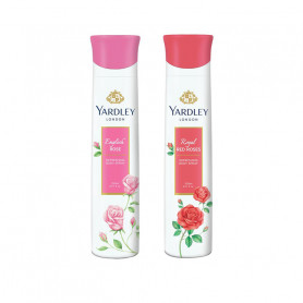 Yardley English Rose, Red Roses Deo (Pack of 2) For Women