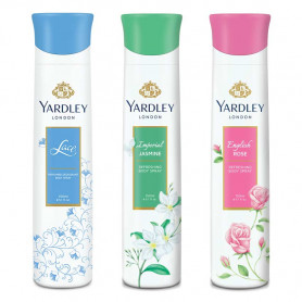 Yardley English Rose, Jasmine, Lace Satin Deo (Pack of 3) For Women