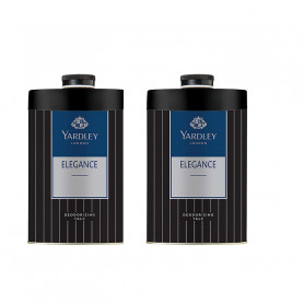 Yardley London Elegance Deodorizing Talc for Men 250g (Pack OF 2)