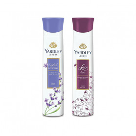 Yardley London Lace Satin, English Lavender Deo (Pack of 2) For Women