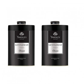 Yardley London Gentleman Talc for Men, 250g (Pack OF 2)