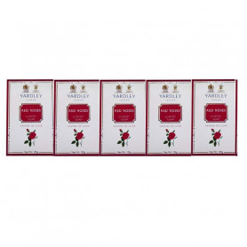 Yardley Red Rose Luxury Soap 100g (Pack of 5) For Women
