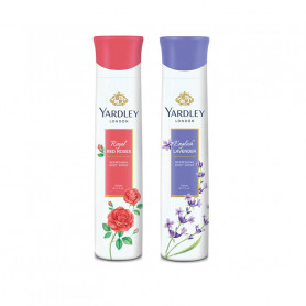 Yardley Red Roses, English Lavender (Pack of 2) Deo For Women 150 ml