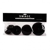 SWACC Hot Hair Donut Bun Maker Set Updo Scrunchie Chignon Hairpiece Ballerina Bun Maker, 4 Sizes + Hair Ties + Bobby Pins in Set (Black)