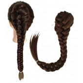 Medium Ash Brown-8# : SWACC Long Fishtail Braid Ponytail Extension Synthetic Clip in Drawstring Ponytail Hairpiece (Medium Ash Brown-8#)