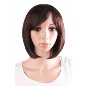 "MapofBeauty 30cm/12"" Synthetic Straight Wig (Dark Brown)"
