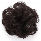 OneDor Synthetic Clip on/in Messy Hair Bun Extension Chignon Hair Piece Wig (4#-Dark brown)