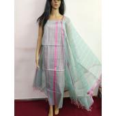 Kota Doria Resham work Dress Material with Bottom