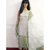 Kota Doria Printed Dress Material with Bottom