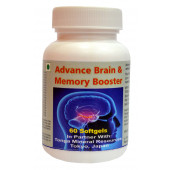 Tonga Herbs Advance Brain And Memory Booster Softgel - 60 Softgels (Buy Any Supplement Get The Same 60ml Drops Free)
