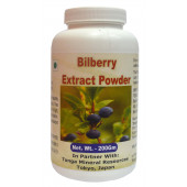 Tonga Herbs Bilberry Extract Powder - 200Gm (Buy Any Supplement Get The Same 60ml drops Free)