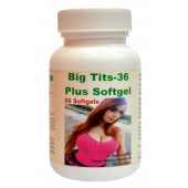 Tonga Herbs Big Tits 36 Plus Softgel - 60 Softgels (Buy Any Supplement Get The Same 60ml Drops Free)