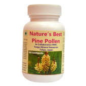 Tonga Herbs Nature's Best Pine Pollen Softgel - 60 Softgels (Buy Any Supplement Get The Same 60ml Drops Free)