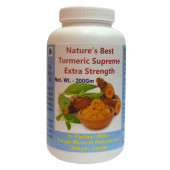 Tonga Herbs Natures Best Turmeric Supreme Extra Strenght Powder - 200Gm (Buy Any Supplement Get The Same 60ml drops Free)