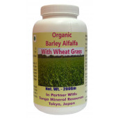 Tonga Herbs Organic Barley Alfalfa With Wheat Grass Powder - 200Gm (Buy Any Supplement Get The Same 60ml drops Free)