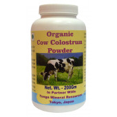 Tonga Herbs Organic Cow Colostrum Powder - 200Gm (Buy Any Supplement Get The Same 60ml drops Free)