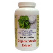 Tonga Herbs Organic Stevia Extract Powder - 200Gm (Buy Any Supplement Get The Same 60ml drops Free)