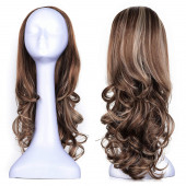 "OneDor 23"" Curly 3/4 Ladies Half Wig Kanekalon Hair Synthetic Wigs with Comb on a Mesh Head Cap (R1224B)"