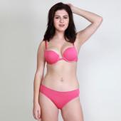 Makclan Sassy n Comfy Front Open Bubblegum Pink Lingerie Set