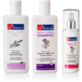 Dr Batra's Hair Fall Control Kit, 525ml Combo Pack