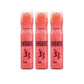 Engage Woman Deodorant Blush, 150ml Pack Of 3