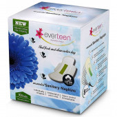 everteen® Cotton-Top Sanitary Napkins for Women L (10pcs x290mm) 1 Pack
