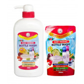Farlin Anti Bacterial Bottle Wash 700ml combo set