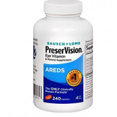 Bausch & Lomb PreserVision Eye Vitamin & Mineral Supplement, Areds, 240 Tablets