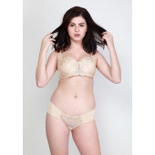 Makclan Naughty Balconette Lace Eggnog Nude Lingerie Set