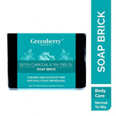 Greenberry Organics Detox Charcoal & Tea Tree Oil Soap Brick