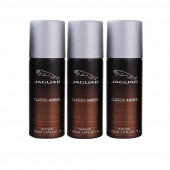 Jaguar classic amber Deodorant Spray - For Men & Women  (150 ml, Pack of 3)