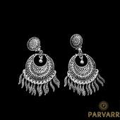 Parvarr German Silver Earrings for Women